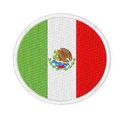 Mexico Flag embroidery design