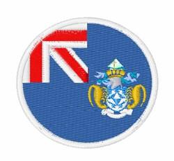 Tristan Da Cunha Flag embroidery design