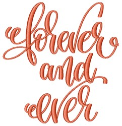 Forever And Ever embroidery design