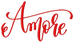Amore embroidery design