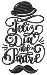 Feliz Dia Del Padre embroidery design