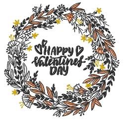 Valentine Wreath embroidery design