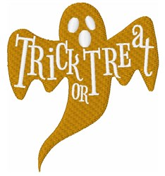 Trick Or Treat Ghost embroidery design