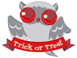 Ghost Owl embroidery design