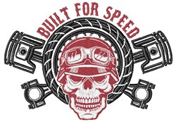 Built For Speed embroidery design