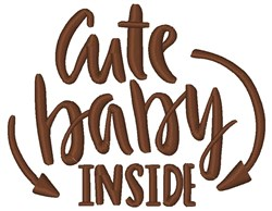 Cute Baby Inside embroidery design