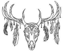 Tribal Deer embroidery design