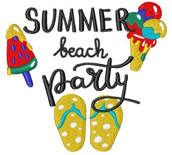 Summer Beach Party embroidery design