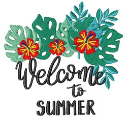 Welcome To Summer embroidery design