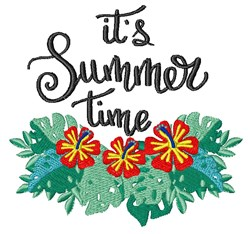 Summer Time embroidery design