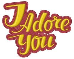 I Adore You embroidery design