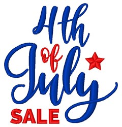 4th Of July Sale embroidery design