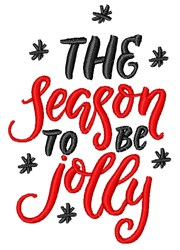 Season To Be Jolly embroidery design