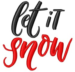 Let It Snow embroidery design