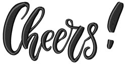 Cheers embroidery design