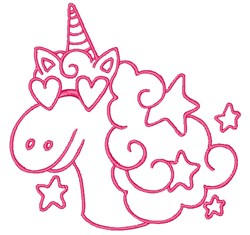 Unicorn Outline embroidery design