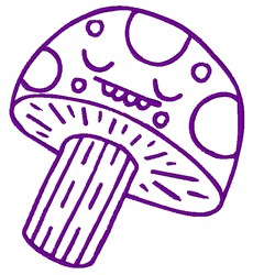 Mushroom Outline embroidery design