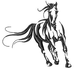 Stallion Horse embroidery design