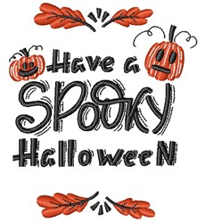 Have A Spooky Halloween embroidery design