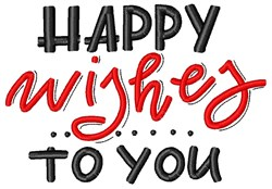 Happy Wishes embroidery design