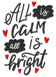 All Is Calm embroidery design