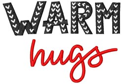Warm Hugs embroidery design