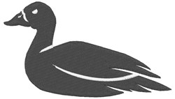 Duck Silhouette embroidery design
