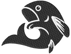 Fish Silhouette embroidery design