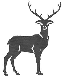 Silhouette Deer embroidery design