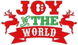 Joy To World embroidery design