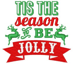 To Be Jolly embroidery design