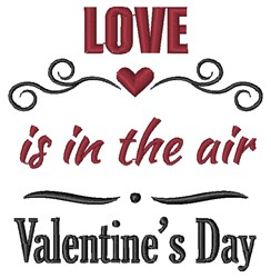 Love In The Air embroidery design