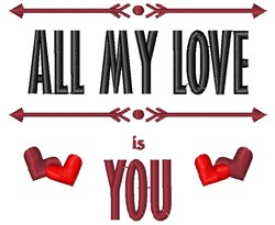 All My Love embroidery design