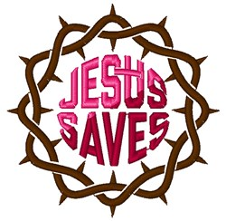 Jesus Saves embroidery design
