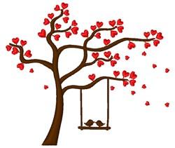 Love Birds Valentine Swing embroidery design