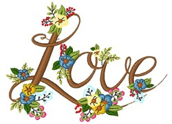 Love Flowers embroidery design