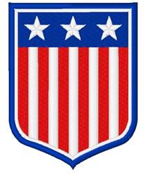 American Shield embroidery design