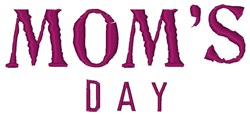 Moms Day embroidery design