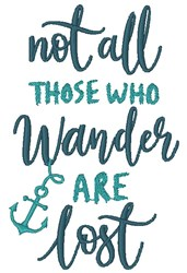 Those Who Wander embroidery design