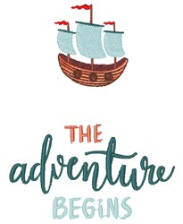 Adventure Begins embroidery design