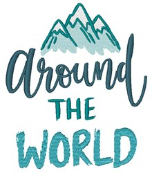 Around The World embroidery design
