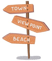 Beach Signs embroidery design