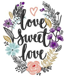 Love Sweet Love embroidery design