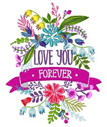 Love You Forever embroidery design