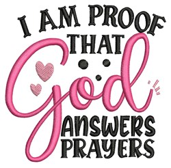 God Answers Prayers embroidery design