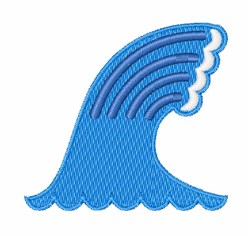 Ocean Wave embroidery design