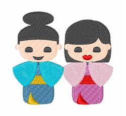 Japanese Dolls embroidery design