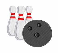 Bowling embroidery design