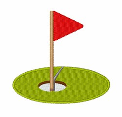 Golf Hole embroidery design