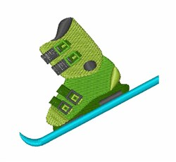 Ski Boot embroidery design
